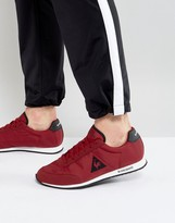 Le Coq Sportif Raceron Nylon Trainers In Red 1720263