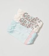 LOFT Paisley & Stripe No Show Sock Set