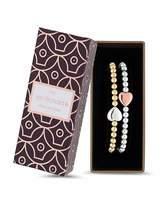 Jon Richard Heart Bracelet Set