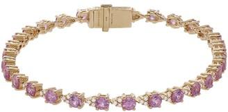"Judith Ripka 14K 4.00ct Pink Sapphire Diamond 6-3/4"" Bracelet"