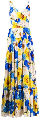 Borgo de Nor Frida floral maxi dress