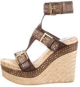 Alexander McQueen Espadrille Wedge Sandals
