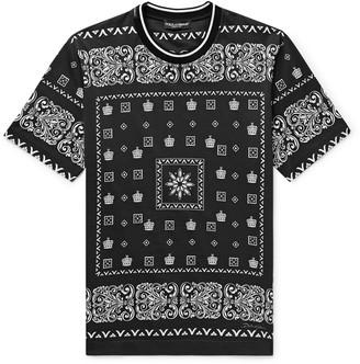 Dolce & Gabbana Slim-Fit Printed Cotton-Jersey T-Shirt - Men