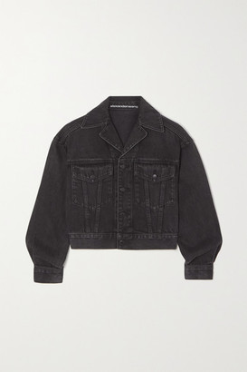 Alexander Wang Cropped Denim Jacket - Gray