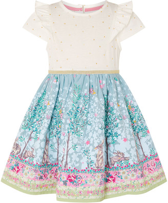 Monsoon Baby Bunny 2-in-1 Dress with Organic Cotton Blue