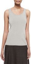 Nic+Zoe Perfect Jersey Scoop-Neck Tank, Silver Cloud, Plus Size