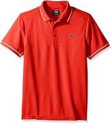 Lacoste Men's Sport Short Sleeve Ultra Dry Semi Fancy Polo Shirt