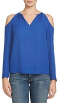 1 STATE 1.State Split Neck Cold Shoulder Blouse