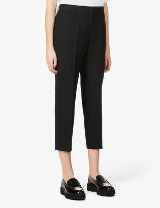 Theory Treeca cropped slim-leg mid-rise stretch-wool trousers