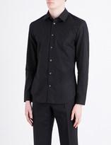 Maison Margiela Panelled regular-fit cotton shirt