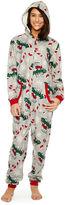 Asstd National Brand Onesie More Naughty Than Nice Print Family Pajamas-Women's