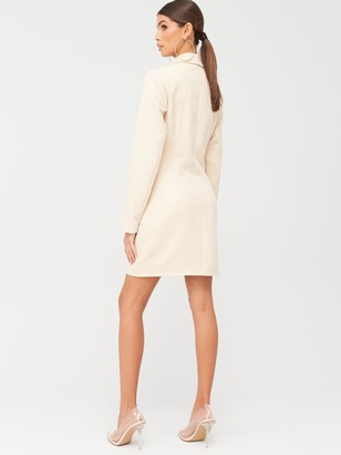 Missguided Oversized Blazer Dress - Nude