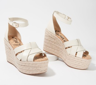 Sam Edelman Woven Leather Wedges - Marietta