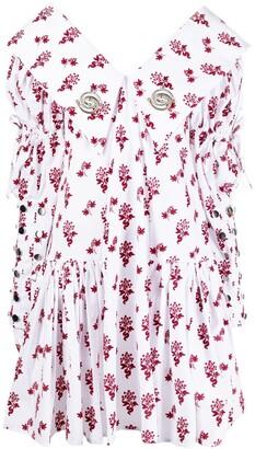 Chopova Lowena Mesh-Button Detail Dress