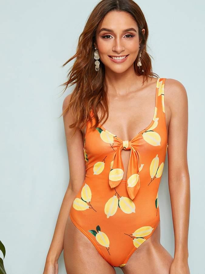 38bb1993822b Shein Orange Women's Tops - ShopStyle