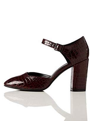 Amazon Brand - find. Block Heel Square Toe Mary Janes