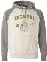 Express Design Group Zeta Psi Vintage Heather Hooded Sweatshirt Smoke Heather