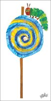 Oopsy Daisy Fine Art For Kids Caterpillar Lollipop Stretched Canvas Art by Eric Carle, 12 by 24-Inch
