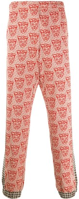 Gucci Jacquard Tiger Side Panelled Trousers