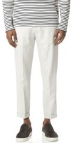 Vince Relaxed Linen Cropped Trousers