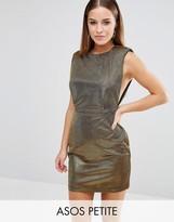Asos NIGHT Shoulder Pad Low Armhole Metallic Mini Dress