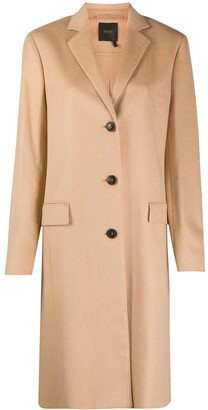 Agnona Single-Breasted Midi Coat