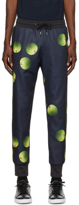 Paul Smith 50th Anniversary Navy and Green Apple Lounge Pants