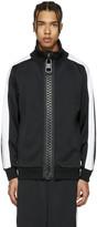 Miharayasuhiro Black Massive Zip Track Jacket