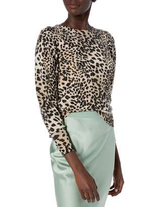 Rebecca Taylor Women's Animal Print Pullover Sweater