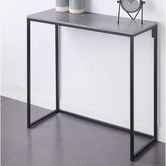 "Wrought Studioâ""¢ Kahler 39.3"" Console Table Wrought Studioa Table Top Color: Heathered Wood"