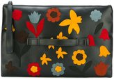 RED Valentino floral patched medium clutch