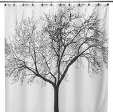 Bed Bath & Beyond Black Tree Fabric 70-Inch x 72-Inch Shower Curtain