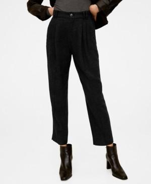 MANGO Flecked Suit Pants
