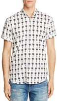 Scotch & Soda Printed Regular Fit Button-Down Shirt