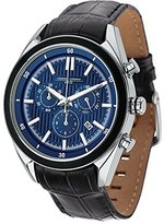Jorg Gray Men's Quartz Watch with Blue Dial Chronograph Display and Black Leather Strap JG6900-22