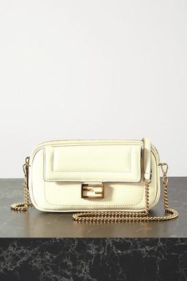Fendi Easy 2 Baguette Leather Shoulder Bag - Off-white