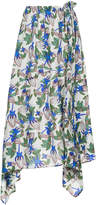 Christian Wijnants floral asymmetric skirt