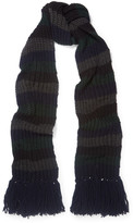 MiH Jeans Beat Striped Ribbed-knit Scarf - Charcoal