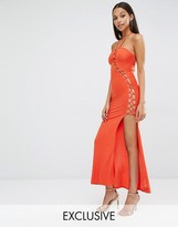 Club L Sexy Dare Maxi Dress With Lattice Detail