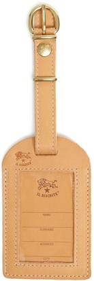 Il Bisonte Cowhide Luggage Label in Natural
