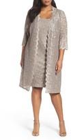 Alex Evenings Plus Size Women's Lace Jacket Dress