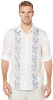 Cubavera 100% Linen Long Sleeve Tropical Print Shirt