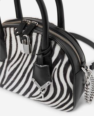 The Kooples Irina zebra-print medium-size bag