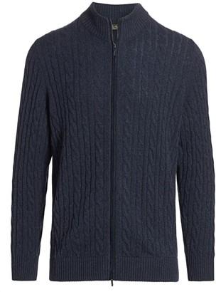 Loro Piana Full-Zip Baby Cashmere Sweater