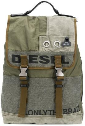 Diesel Logo Foldover Backpack