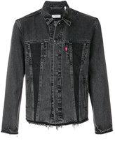 Levi's raw edge denim jacket