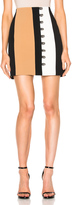David Koma Loops & Metal Balls Front Detailing Mini Skirt