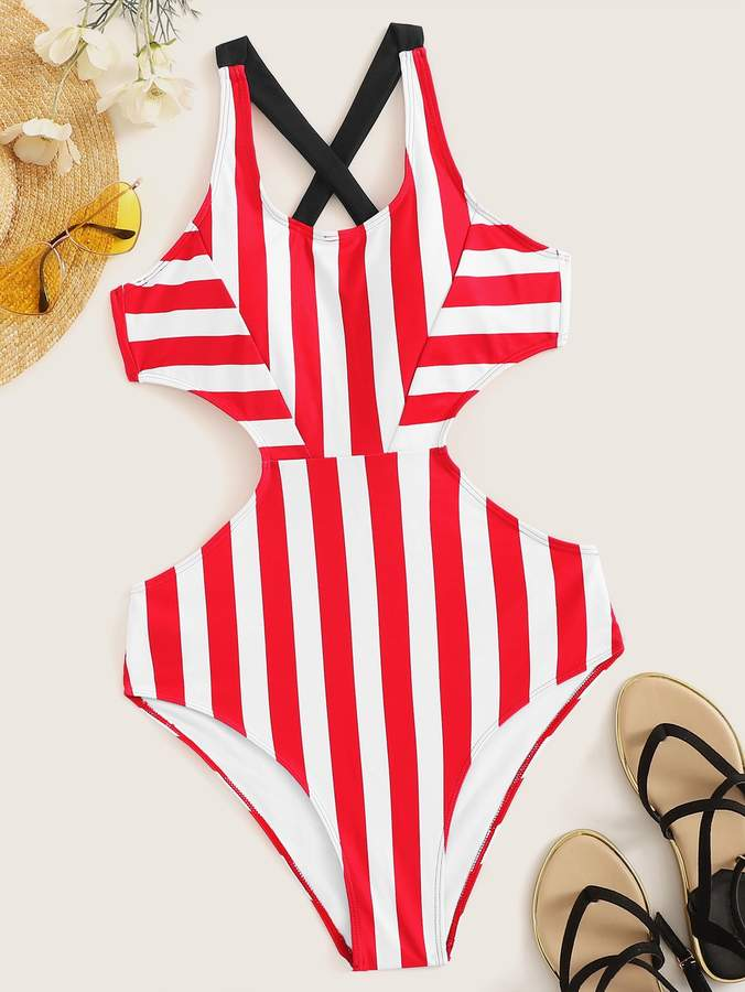 fae195d487 One Piece Swimwear Cut Out Sides - ShopStyle