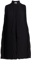 RED Valentino Pleated Neck-Tie Shift Dress