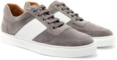 Harrys Of London - Mr Jones Bolt Leather-panelled Suede Sneakers